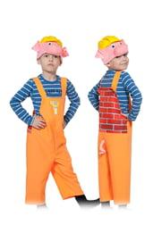 Детский костюм поросенка строителя