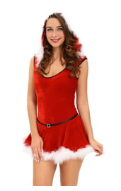 Красное платье подружки Санты