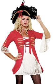 Женский костюм пиратки с кружевами