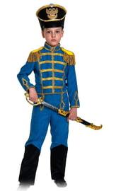 Детский костюм гусара в синем