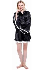 Черный кимоно-халат