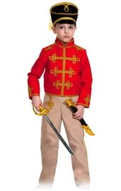 Детский костюм красно-бежевого гусара