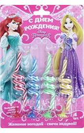 Набор витых свечей Принцессы 4 шт