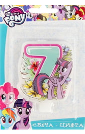 Свеча семерка My Little Pony