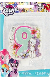 Свеча девятка My Little Pony