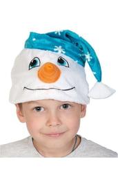 Шапка-маска Снеговичок
