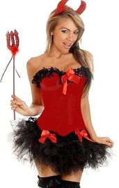 Корсетный костюм красной дьяволицы