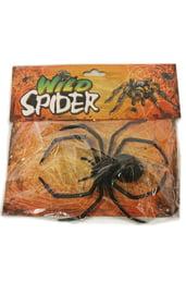 Черный жуткий паук