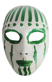 Зелено-белая маска