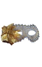 Золотая маска с цветком