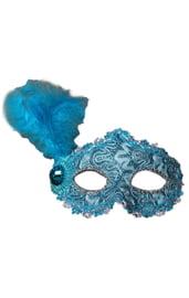 Голубая маска с пером