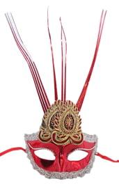 Красная маска с украшением
