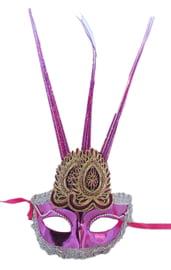 Розовая маска с украшением