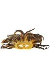 Золотая маска в перьях