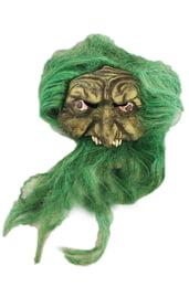 Маска ведьмы с зелеными волосами