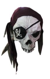 Маска черепа пирата в бандане