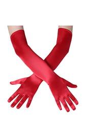 Красные длинные перчатки на карнавал