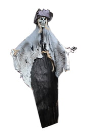 Декорация Скелет в лохмотьях и шляпе