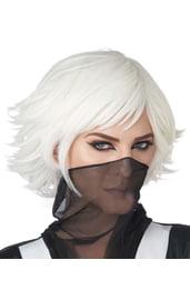 Белый парик