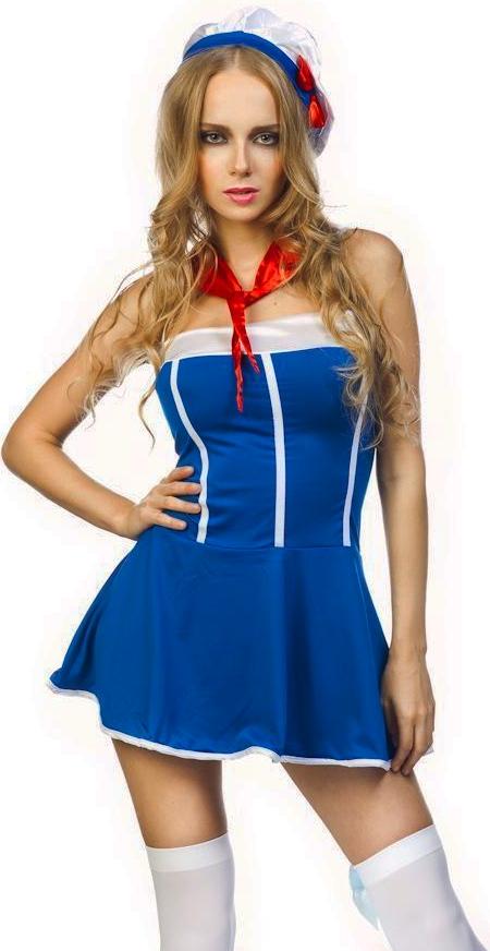 Костюм девушки матроса (40-44) костюм снегурочки конфетки 40 44