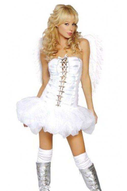 Костюм ангелочка кокетки (40-44) костюм снегурочки конфетки 40 44