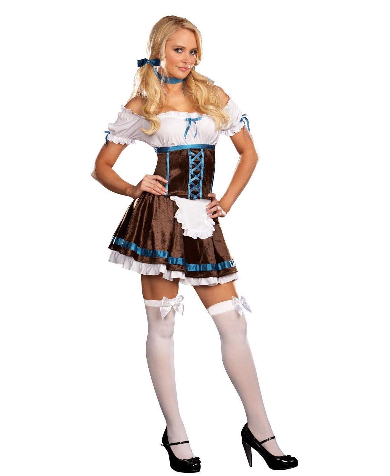 Баварская официантка в чулках фото 462-276