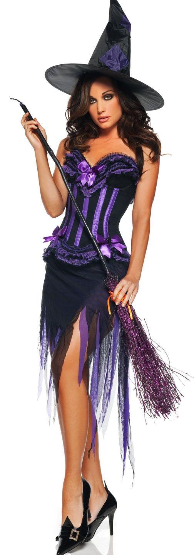 Костюм-корсет ведьмы фиолетовый (42) корсет для девочек