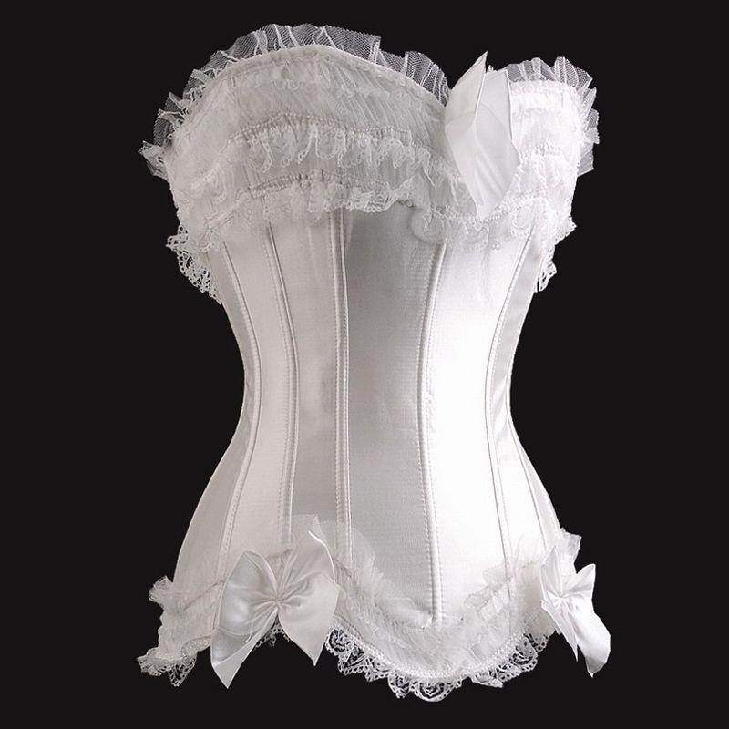 Белый корсет с рюшами (46) Mia Lover LC5042-1