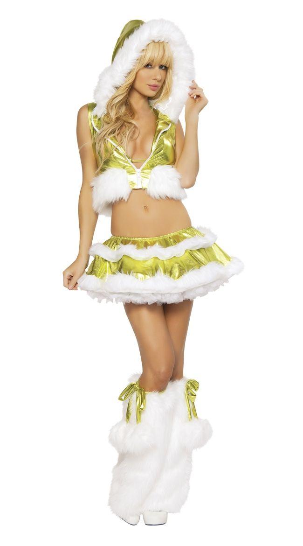 Костюм зеленой снегурочки (40-44) - Новогодние костюмы, р.40-44