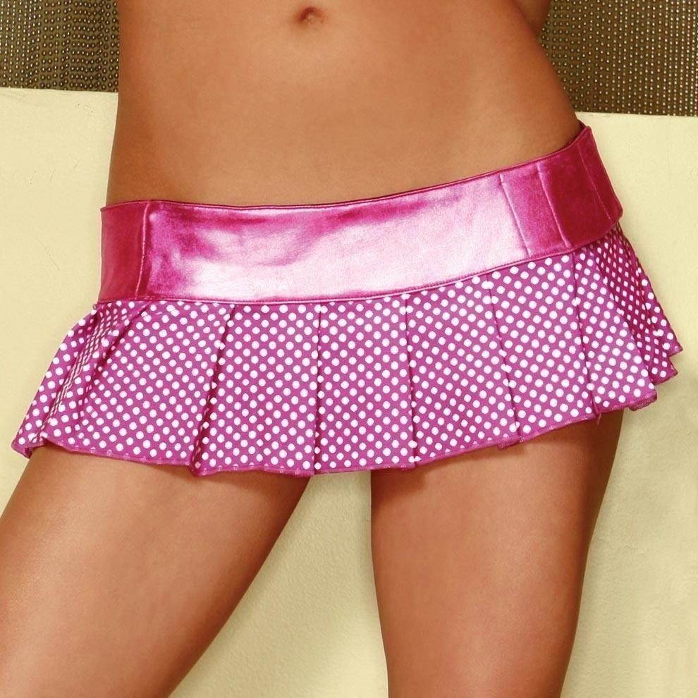 Мини-юбка розовая в горошек (46) - Подъюбники и юбки, р.46