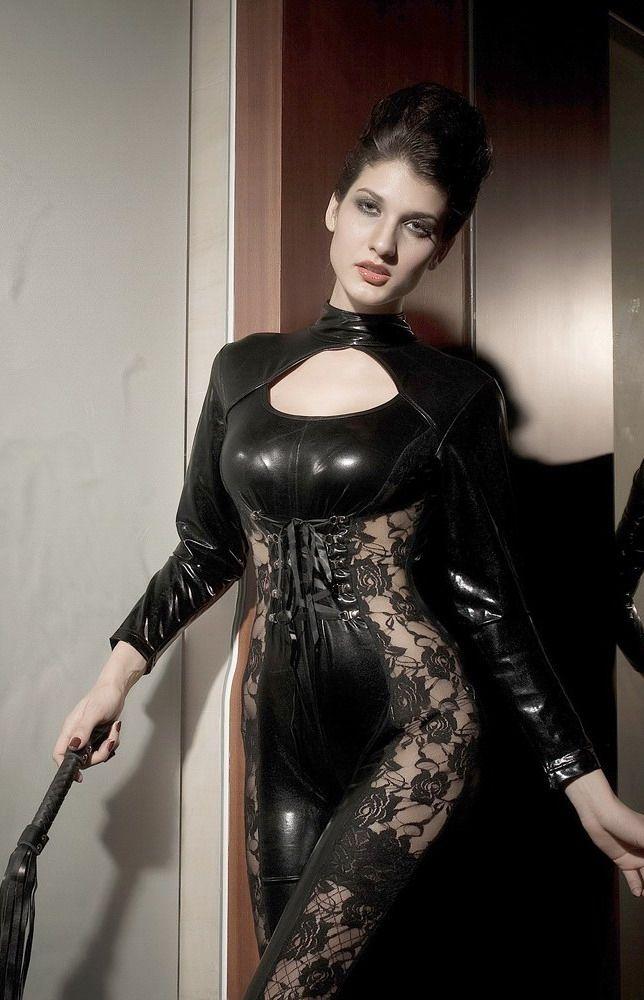 Черный виниловый комплект эро (42) Mia Lover LC9071