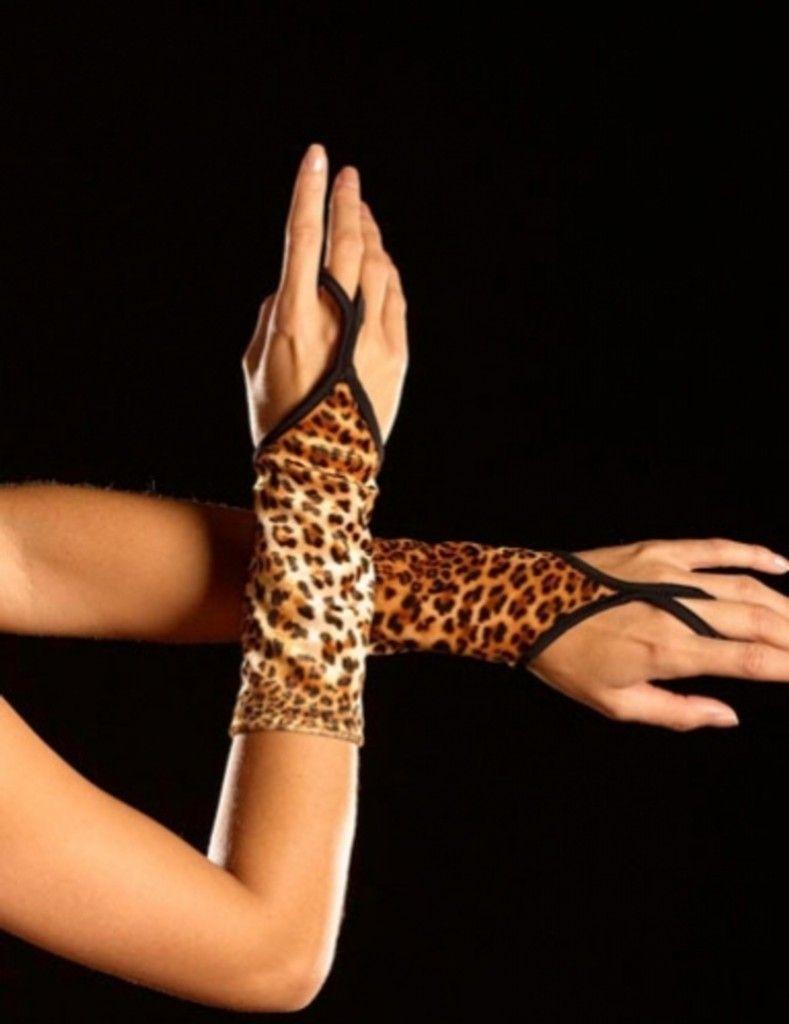 Перчатки леопардовые (46) - Перчатки и рукава, р.46