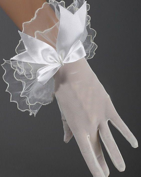 Перчатки с бантиком (42) - Перчатки и рукава, р.42