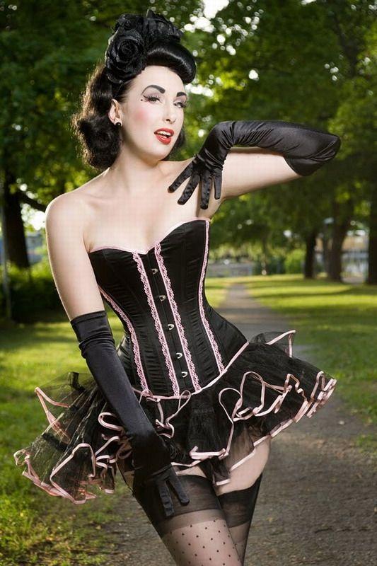 Черный корсет с розовыми вставками (42) Mia Lover 5202