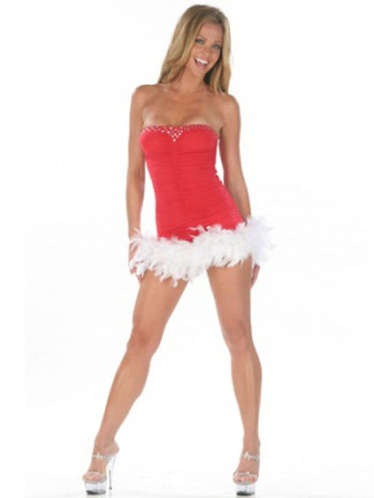 Костюм снегурочки с перьями (40-44) костюм снегурочки конфетки 40 44