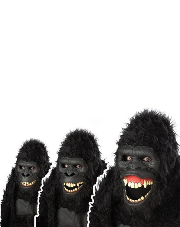 Маска гориллы (UNI) плащ и маска штурмовик uni