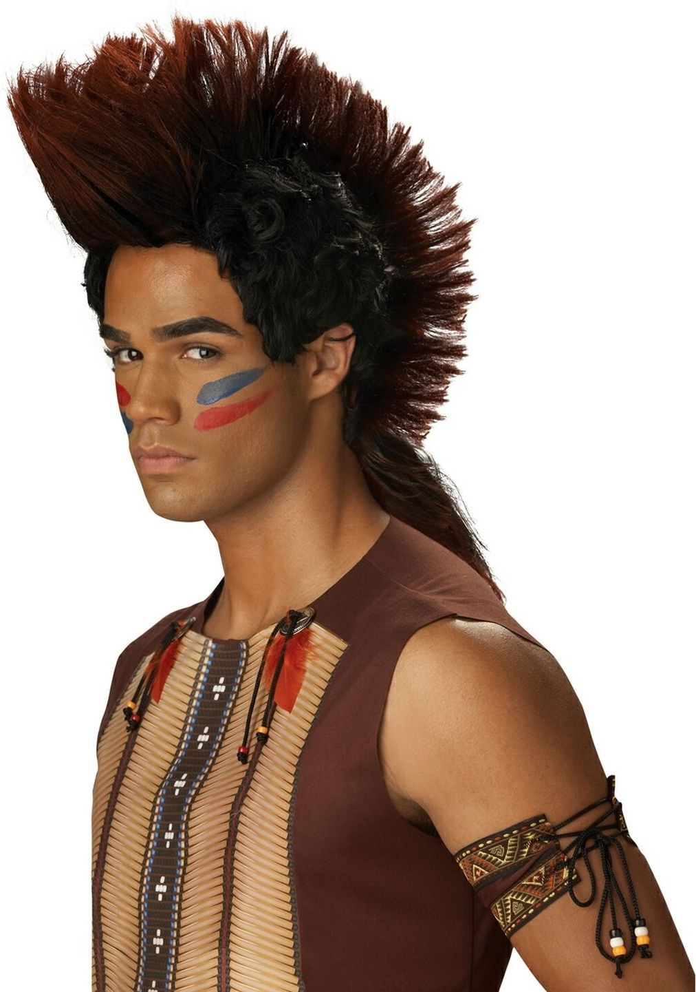Парик индейца воина (UNI) -  Парики и волосы