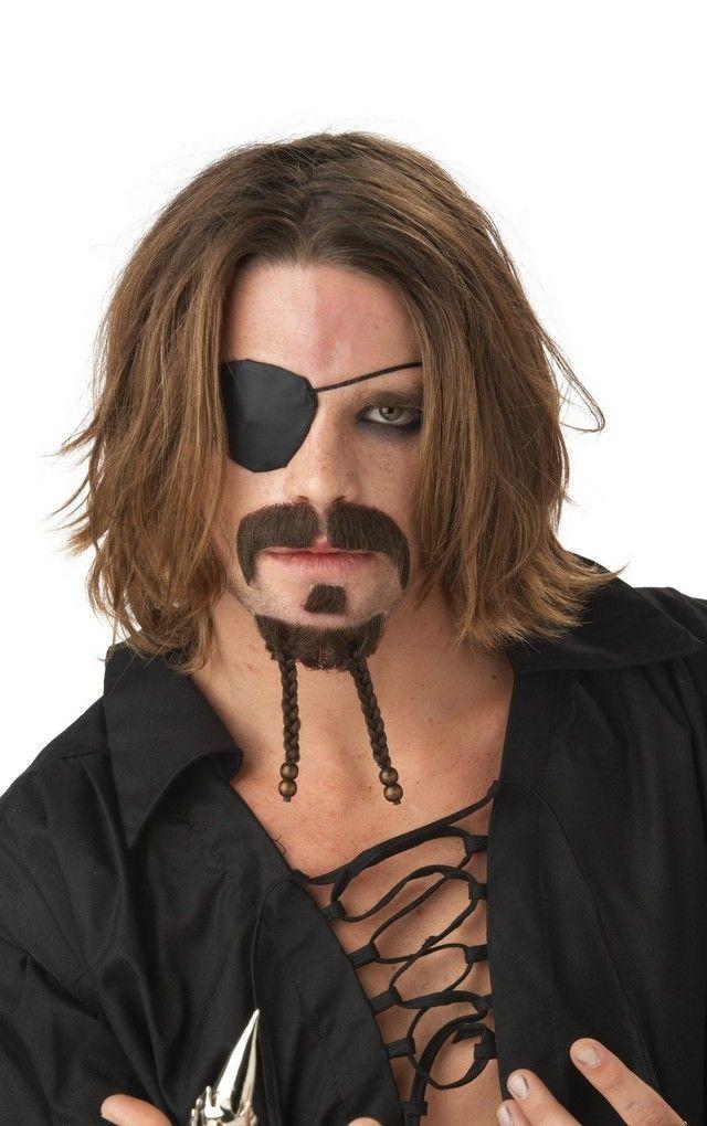 Бородка и усы мачо-пирата - Борода и усы