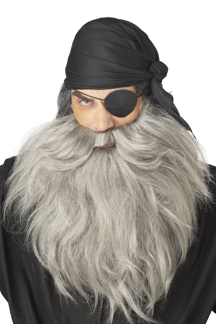 Седые борода и усы пирата (UNI) - Борода и усы