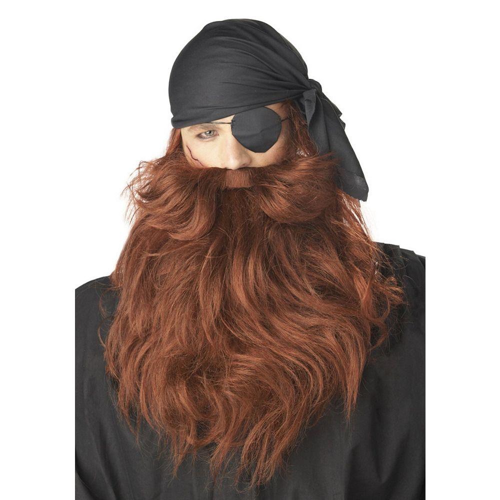 Рыжие борода и усы пирата (UNI) - Борода и усы