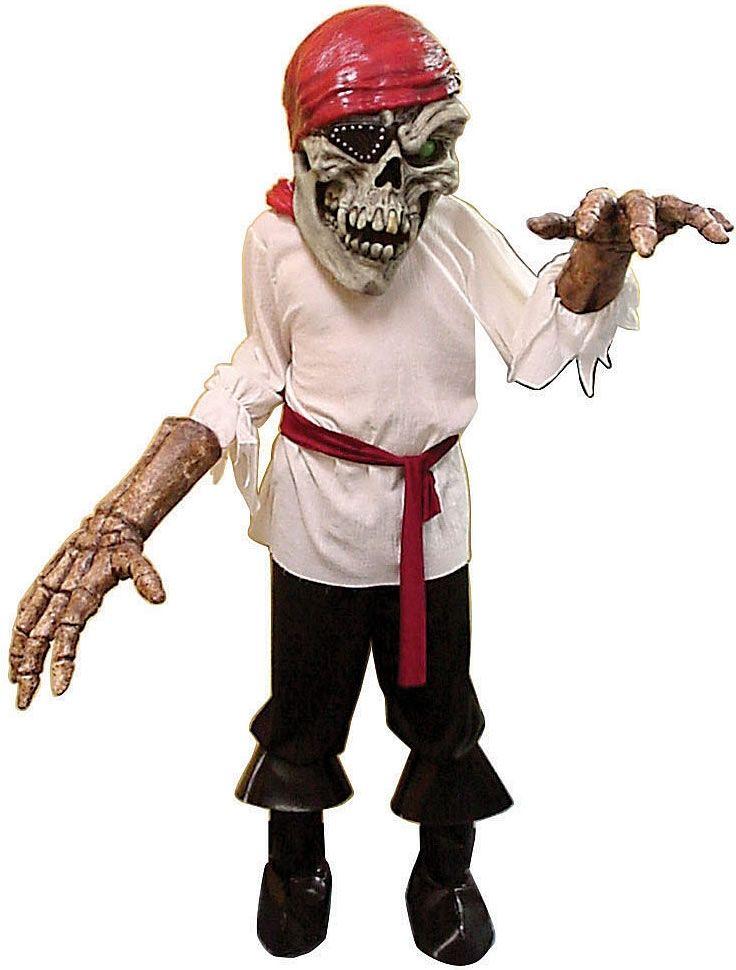 Костюм скелета пирата с большой головой (46) - Зомби и мертвецы, р.46