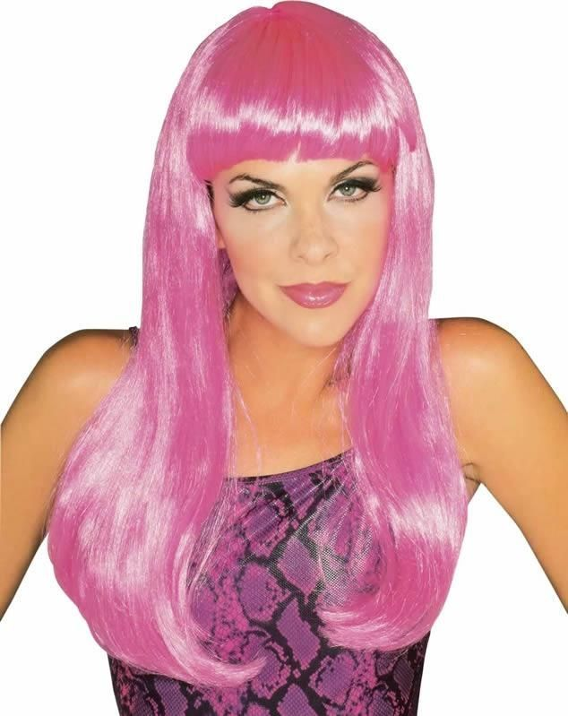 Гламурный розовый парик (UNI)