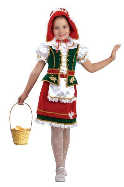 Костюм красной шапочки с вышивкой (34) детский костюм озорного клоуна 34
