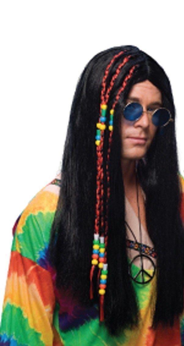Парик хиппи с бусами (UNI) - Парики и волосы