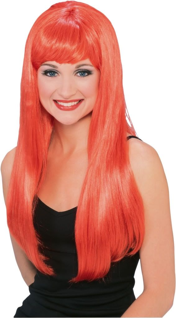 Парик апельсин (UNI) - Парики и волосы