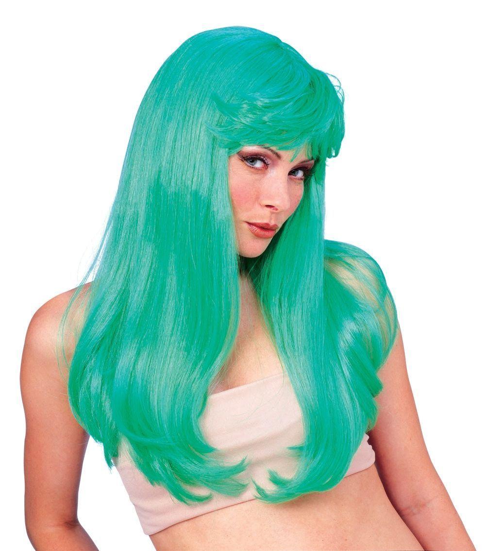 Гламурный зеленый парик (UNI) - Парики и волосы