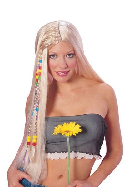 Парик девушки хиппи с бусами (UNI) - Парики и волосы