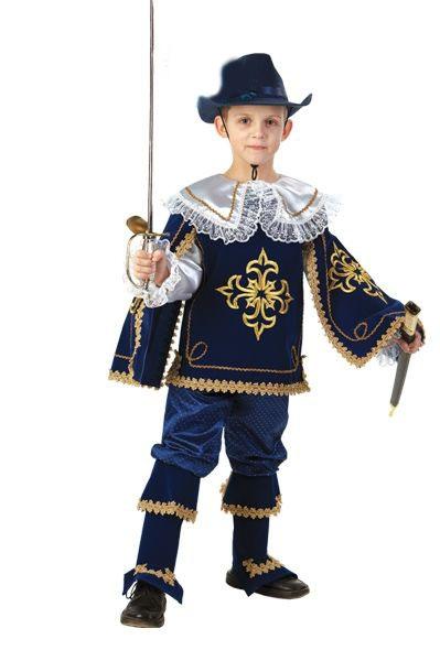 купить Детский костюм отважного мушкетёра (34) недорого