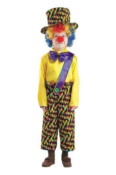 Костюм Веселого клоуна (34) детский костюм клоуна весельчака 38