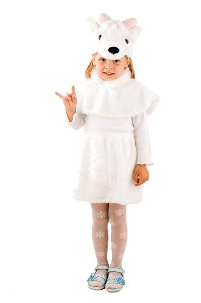 Детский костюм беленькой козочки (28) - Животные и зверушки, р.28